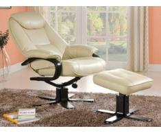 Relaxsessel Fernsehsessel + Sitzhocker Docia - Beige