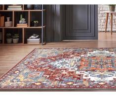 Teppich orientalisch KALYAN - 200 x 290 cm - Rot & Blau