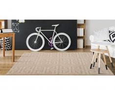 Teppich Jacquard gewebt AKIL - 160 x 230 cm - Beige