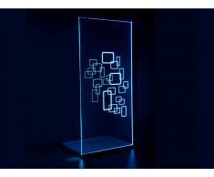 LED-Duschtrennwand Seitenwand italienische Dusche Farbwechsel Bella - 120x200cm