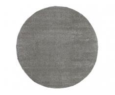 Hochflorteppich rund HEDWIGE - 100% Polypropylen - D 200cm - Grau