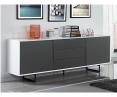Sideboard Angie - 2 Türen + 3 Schubladen - Weiß-Grau