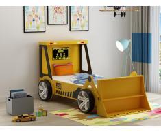 Kinderbett Spielbett CONSTRUCTOR - 90 x 190 cm - Holz (MDF) - Gelb