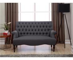 2-Sitzer-Sofa Stoff Barock Manifia - Anthrazit