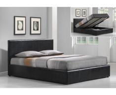 Polsterbett mit Bettkasten RITIKA - 140x190cm - Schwarz