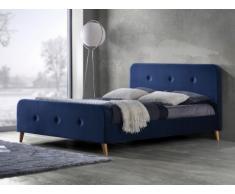 Polsterbett Stoff Jose - 140x190cm - Blau