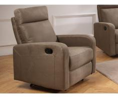 Relaxsessel Fernsehsessel CARLINA - Stoff - Taupe