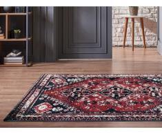 Teppich orientalisch SYLHET - 200 x 290 cm - Rot & Schwarz