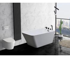 Freistehende Badewanne MIJA - 188 L - 150x75x58 cm - Weiß