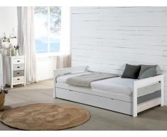 Ausziehbett CELIANE - 2 x 90 x 190 cm - Weiß
