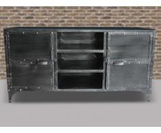 Sideboard Design Metall Ruben - 2 Türen, 4 Regalbretter