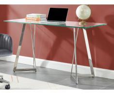 Schreibtisch Glas & Metall ADRIEL