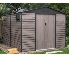 Gartenhaus Gerätehaus ADELMO - Stahl - Holz-Optik - 8,94 m²