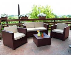 Lounge Sitzgruppe Sophie II (4-tlg.) - Braun