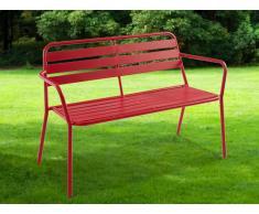 Gartenbank Metall MIRMANDE - Rot