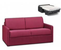 Schlafsofa 2-Sitzer Stoff CALIFE - Fuchsia - Liegefläche: 120 cm - Matratzenhöhe: 18cm