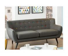 3-Sitzer-Sofa Stoff Serti - Anthrazit-Grau
