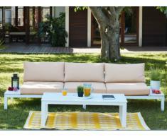 Garten Sitzgruppe Aluminium SERAM: 3-Sitzer-Sofa + Couchtisch