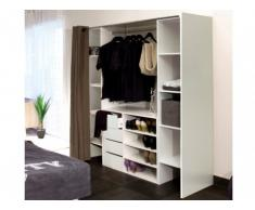 Sparset: Kleiderschranksystem mit Kommode EMERIC - Weiß & Taupe