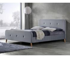 Polsterbett Stoff Jose - 140x190cm - Grau