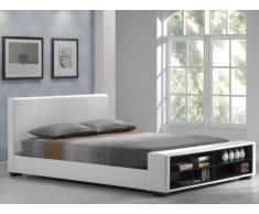 SALE - Polsterbett mit Stauraum Avalon - 160x200cm - Weiß