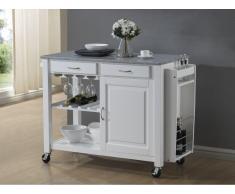 Küchenwagen Servierwagen Holz Owen - Weiß