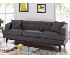 3-Sitzer-Sofa Stoff Elton - Anthrazit