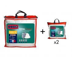 Sparset DODO: Bettdecke für milde Temperaturen 240 x 260 cm + 2 Kopfkissen TOTAL PROTECT 60 x 60 cm