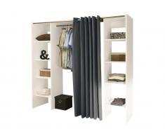 Kleiderschrank Kleiderschranksystem Emeric - Weiß & Anthrazit