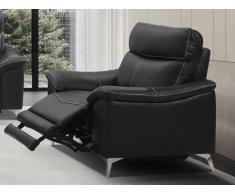 Relaxsessel Fernsehsessel elektrisch METRONOMY - Leder - Schwarz