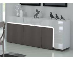 Sideboard Hochglanz LED Odean - 3 Türen & 2 Schubladen