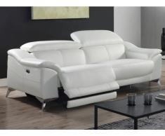 Relaxsofa Leder 3-Sitzer elektrisch DALOA - Weiß