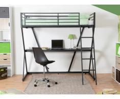 Hochbett mit Schreibtisch JOACHIM - 90x190cm