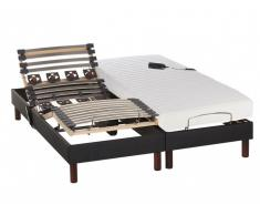 Latexmatratze elektrischer Lattenrost 2er-Set URANUS - 2x 80x200cm