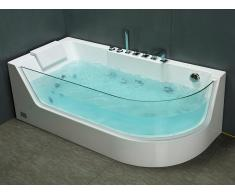 Whirlpool Eckwanne ARIA mit Hydromassage - 1 Person - 263 L - Weiß - Ecke Links