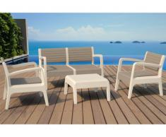 Lounge Sitzgruppe MIAMI (4-tlg.) - Taupe-Anthrazit