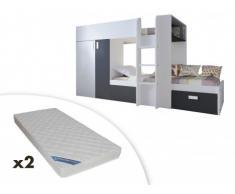 Etagenbett Mit Lattenrost Und Matratzen : Matratzen sets aus holzspan bei livingo online kaufen
