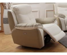 Relaxsessel Leder LUGO - Weiß/Beige
