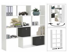 Raumteiler Eckregal Bibliothek Corian - Weiß