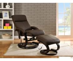 SALE - Massagesessel Leder Rodrigo - Braun