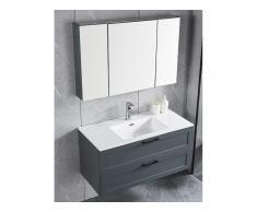 Badmöbel-Set NEO - Anthrazit + Waschbecken + Spiegelschrank