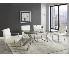Essgruppe VELIKA: Esstisch + 4 Stühle