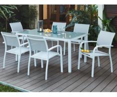 Garten Essgruppe Aluminium PAIA: Esstisch & 6 Sessel