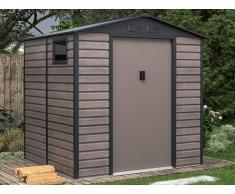 Gartenhaus Gerätehaus ADELMO - Stahl - Holz-Optik - 4,15 m²