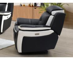 Relaxsessel Fernsehsessel elektrisch ANGELIQUE - Leder - Schwarz