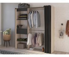 Kleiderschrank Kleiderschranksystem KYLIAN - Eichenholzfarben/Anthrazit