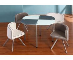 Essgruppe Unity - 1 Tisch & 4 Stühle - Grau