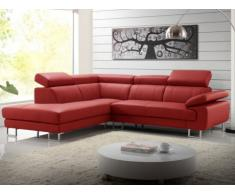 SALE - Ledersofa Ecksofa Colisee Rot - Ecke Links