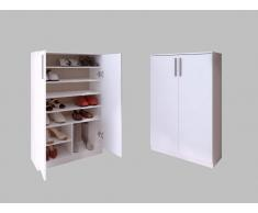 Schuhschrank Mathias - 2 Türen - Weiß