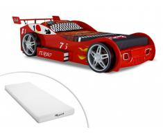 Set Kinderbett RUNNER + Matratze - 90x200cm - Rot